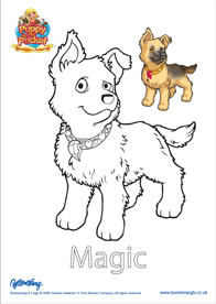 Coloring Pages Puppy In My Pocket