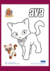 Puppy In My Pocket Coloring Page Princess Ava